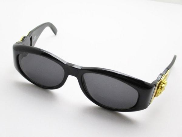 ジャンニヴェルサーチ サングラス MOD424 黒×ゴールド プラスチック×金属素材