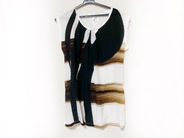 マックスマーラ 半袖カットソー サイズS レディース美品  白×黒×ダークブラウン