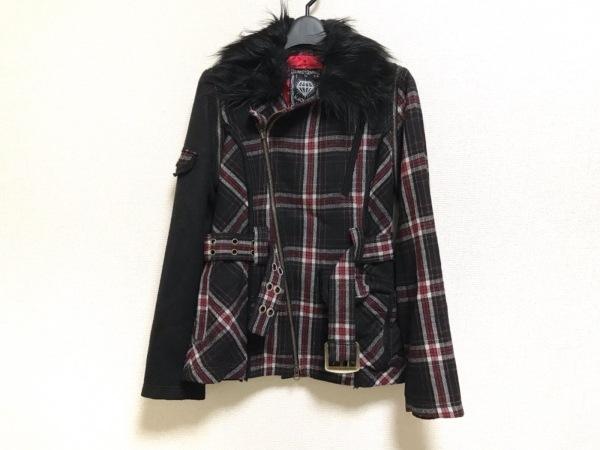 ALGONQUINS(アルゴンキン) コート サイズF レディース美品  黒×レッド×白