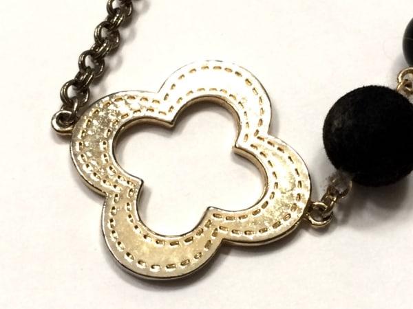プラスヴァンドーム ネックレス美品  金属素材×プラスチック ゴールド×黒 ベロア