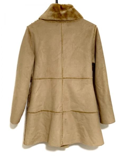ホコモモラ コート サイズ40 XL レディース ライトブラウン フェイクムートン/冬物