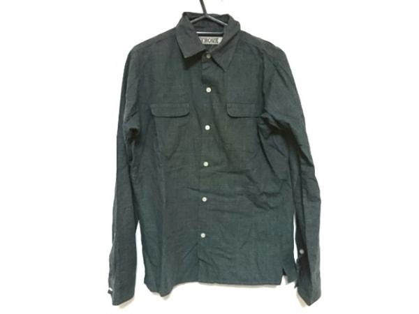 TROVE(トローヴ) 長袖シャツ サイズ3 L メンズ美品  ダークグレー×黒 チェック柄
