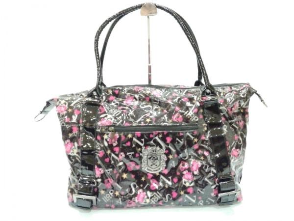 LIZLISA(リズリサ) ハンドバッグ美品  黒×ピンク×白 doll
