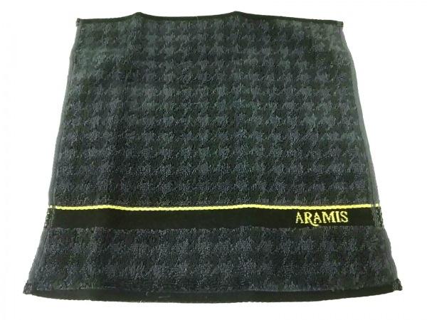 ARAMIS(アラミス) 小物美品  ダークネイビー×黒 ハンドタオル/千鳥格子 パイル