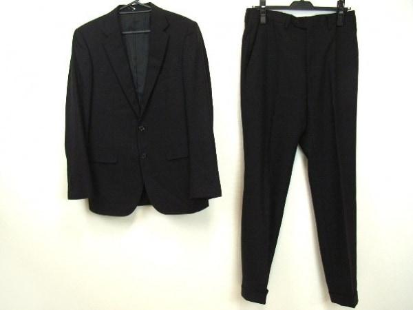 ユナイテッドアローズ シングルスーツ サイズ46 XL メンズ 黒 肩パッド