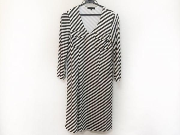 ICB(アイシービー) ワンピース サイズS レディース美品  黒×白 斜めストライプ