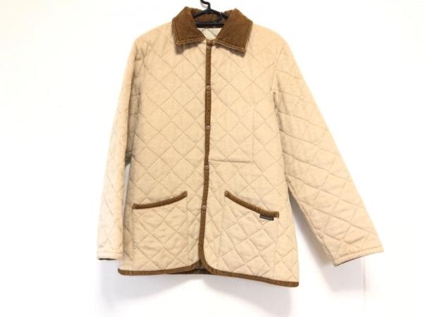 ラベンハム コート サイズ36 S メンズ アイボリー×ブラウン 冬物/キルティング