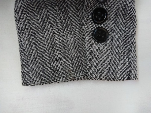 ANAYI(アナイ) ジャケット サイズ36 S レディース ライトグレー×黒 ヘリンボーン