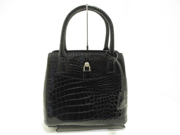 SANPO(サンポー) ハンドバッグ美品  黒 クロコダイル