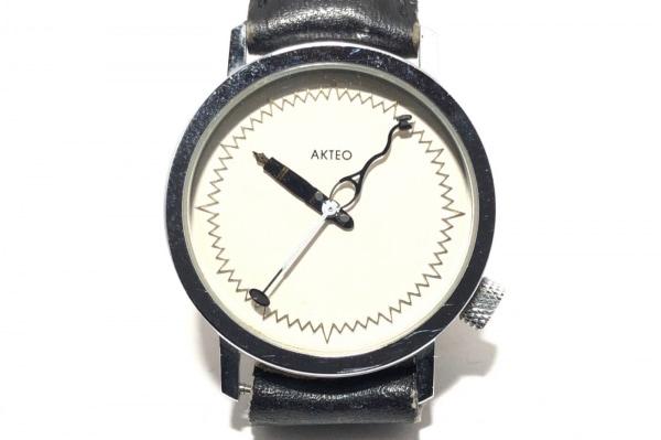AKTEO(アクティオ) 腕時計 - メンズ 革ベルト アイボリー