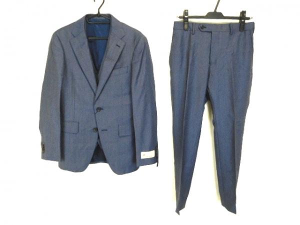 COMME CA MEN(コムサメン) シングルスーツ サイズSS XS メンズ ネイビー スリーピース