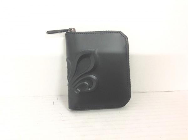 PATRICK COX(パトリックコックス) 2つ折り財布 黒 ラウンドファスナー レザー