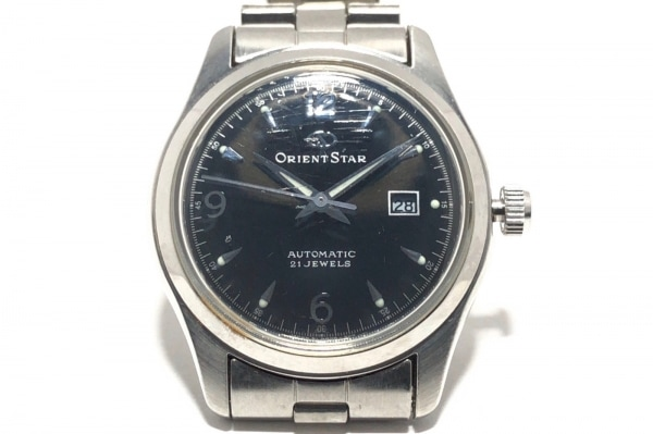 ORIENT STAR(オリエントスター) 腕時計 21JEWELS NROR-Q0 レディース 裏スケ 黒
