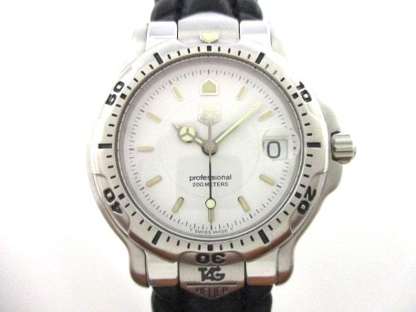 タグホイヤー 腕時計美品  プロフェッショナル200 WH1211 レディース 革ベルト 白