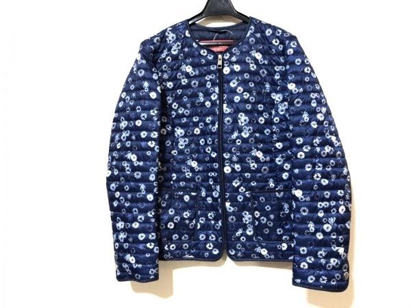 マリナスポーツ ダウンジャケット サイズ4 XL レディース美品  冬物/花柄