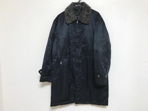ムッシュニコル ダウンコート サイズ50 メンズ ダークネイビー×ダークグレー 冬物