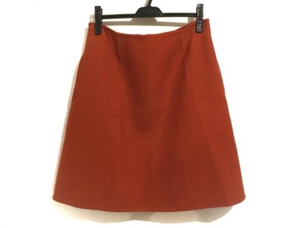 9aaf4ba635e5 セリーヌ スカート サイズ38 M レディース 22N534324 オレンジ 台形スカート/シルク混