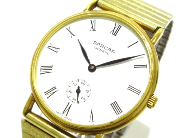 SARCAR(サーカー) 腕時計 メンズ K18YG/社外ベルト 白