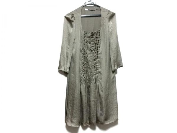 sakayori(サカヨリ) ワンピース レディース美品  ダークグリーン フリル