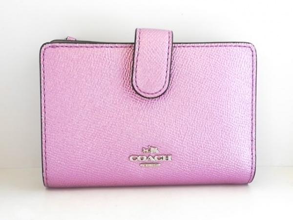 COACH(コーチ) 2つ折り財布美品  - F23256 ピンク レザー