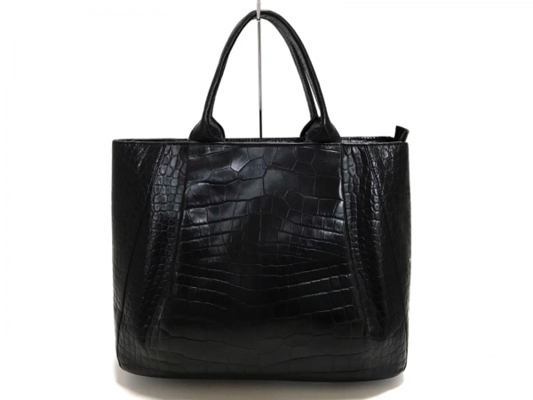 FURLA(フルラ) ハンドバッグ美品  黒 型押し加工 レザー