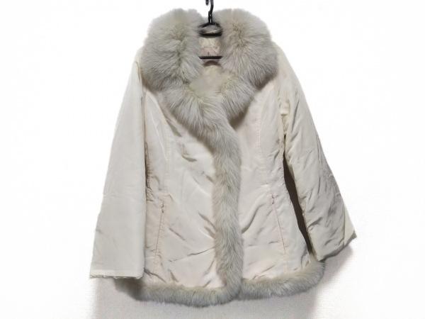 SALCO(サルコ) ダウンコート サイズ44 L レディース美品  アイボリー 冬物/ファー