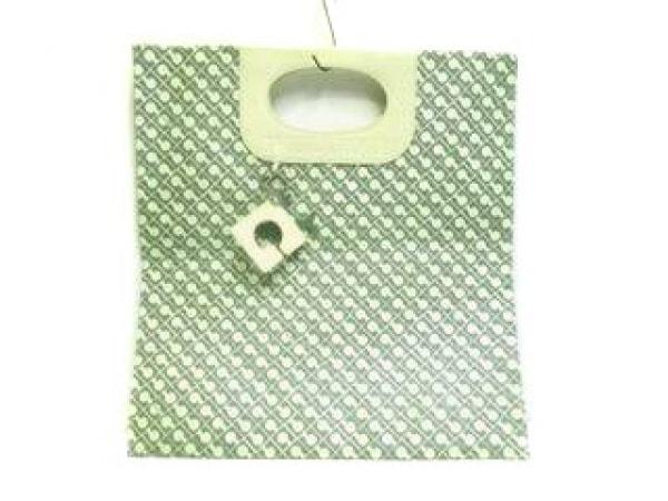 【中古】 ゲラルディーニ GHERARDINI バッグ グリーン アイボリー PVC(塩化ビニール) レザー