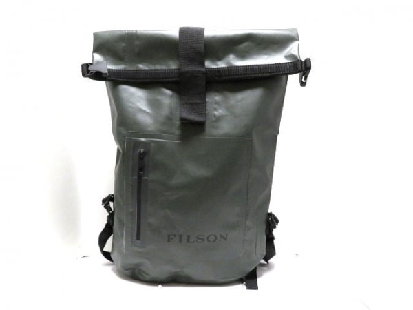 FILSON(フィルソン) リュックサック カーキ×黒 PVC(塩化ビニール)×ナイロン