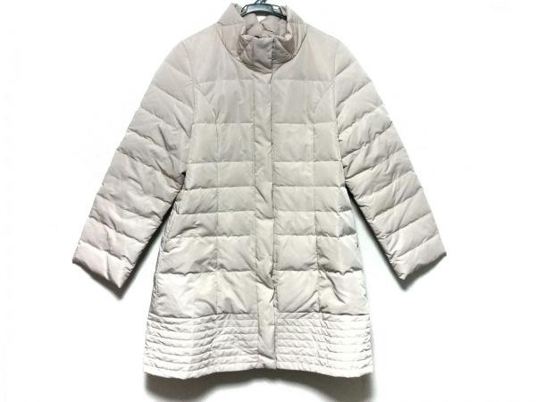 ユマコシノ ダウンコート サイズ38 M レディース美品  ベージュ 冬物/フェイクファー