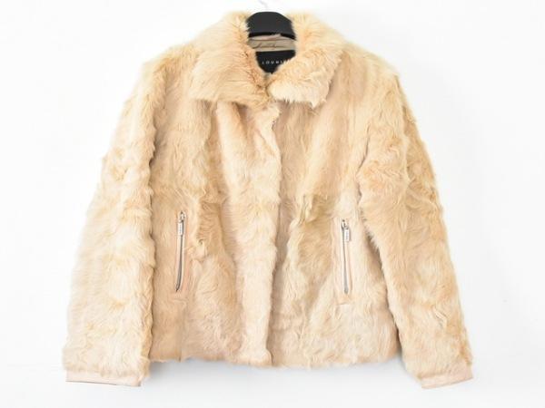 LOUNIE(ルーニィ) コート サイズ40 M レディース ライトブラウン 冬物/ファー