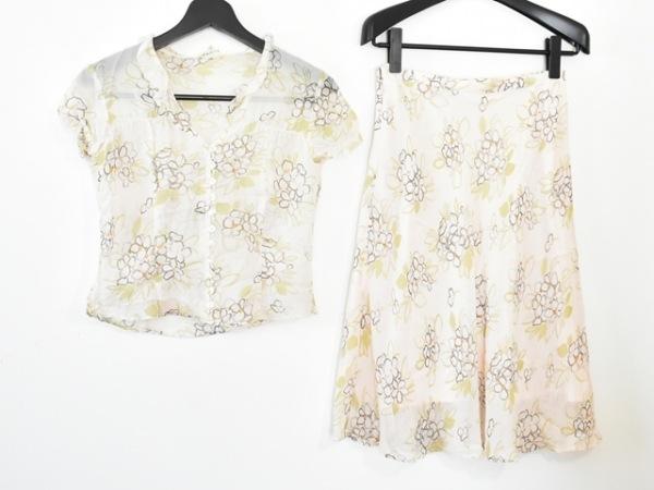 ルーニィ スカートセットアップ サイズ40 M レディース美品  アイボリー×マルチ 花柄