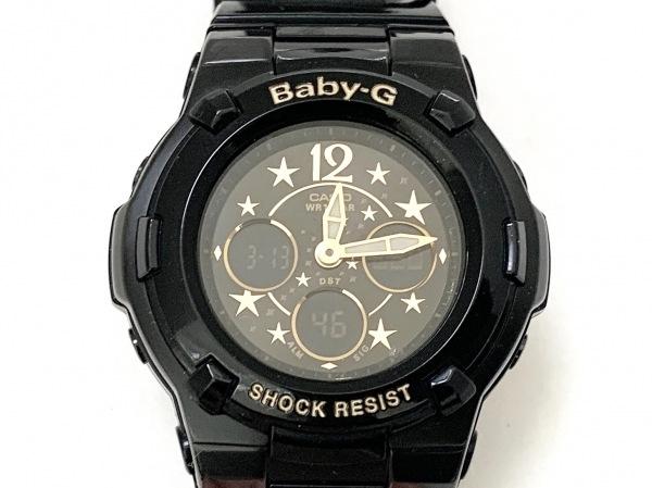 CASIO(カシオ) 腕時計美品  Baby-G BGA-113B レディース 黒×ゴールド
