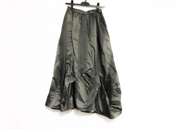 慈雨(ジウ/センソユニコ) ロングスカート サイズ40 M レディース美品  カーキ
