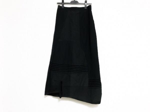 ジウ/センソユニコ ロングスカート サイズ40 M レディース美品  ダークネイビー×白