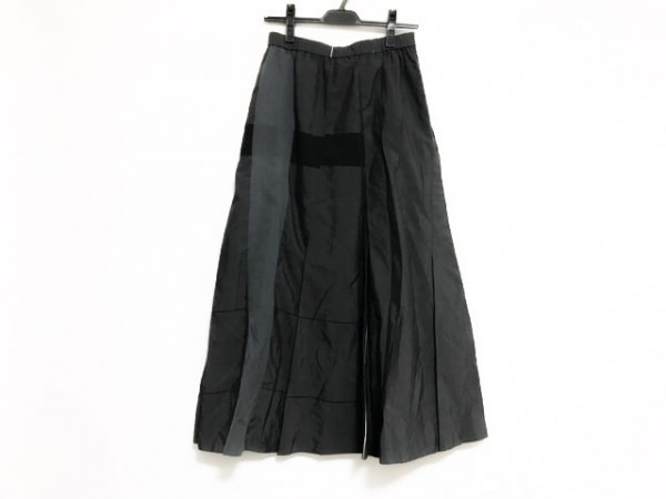 ジウ/センソユニコ ロングスカート サイズ40 M レディース美品  ダークグレー×黒×白