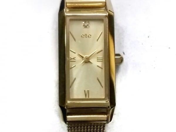 ete(エテ) 腕時計美品  890194 レディース 1Pダイヤ ゴールド