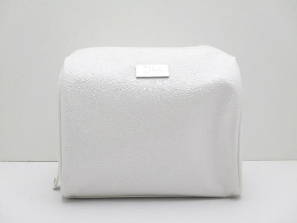 Dior Beauty(ディオールビューティー) ポーチ美品  白 ラメ/Beaute 合皮