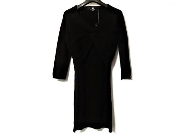 エリザベッタフランキ ワンピース サイズ42 L レディース美品  黒 ニット