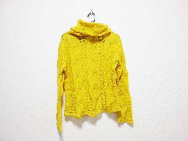 galliano(ガリアーノ) 長袖セーター サイズXS レディース イエロー タートルネック