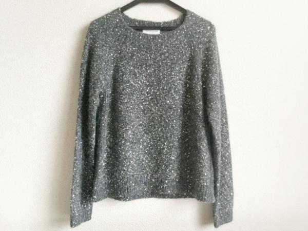 トゥルートラサルディ 長袖セーター サイズ38 M レディース美品  ダークグレー