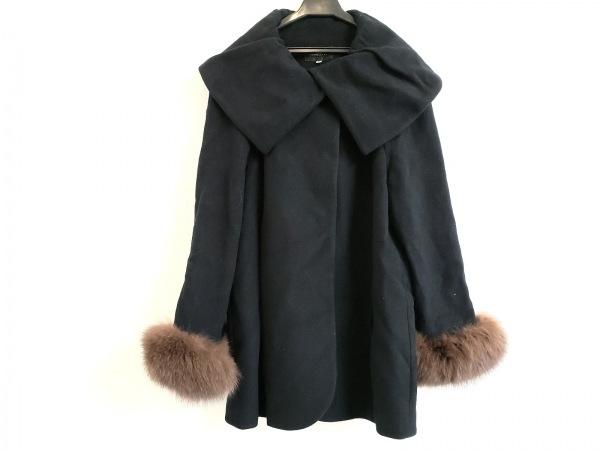 JUSGLITTY(ジャスグリッティー) コート サイズ2 M レディース美品  黒 冬物/ファー