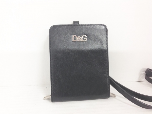 D&G(ディーアンドジー) コインケース 黒 レザー