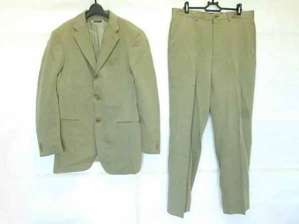 ジョルジオアルマーニ シングルスーツ サイズ40 M メンズ ベージュ×黒