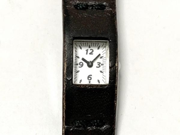 ZUCCA(ズッカ) 腕時計 - レディース 革ベルト/CABANEdeZUCCA 白