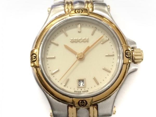 GUCCI(グッチ) 腕時計 9040L レディース アイボリー