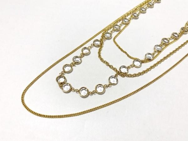 プティローブノアー ネックレス美品  金属素材×プラスチック ゴールド×クリア