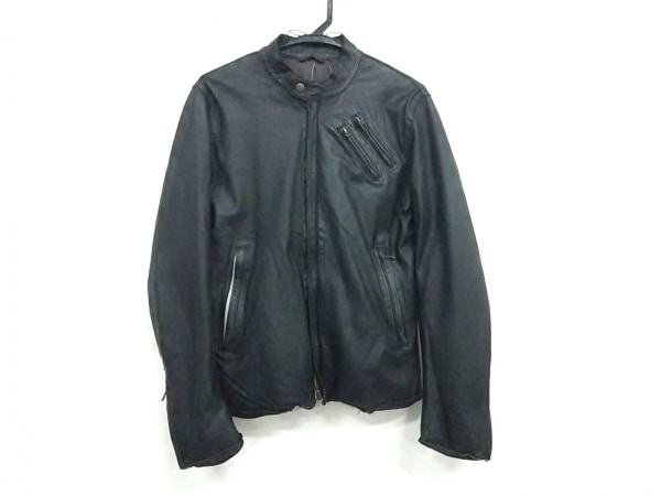 シップスジェットブルー ライダースジャケット サイズMEDIUM M メンズ 黒 レザー