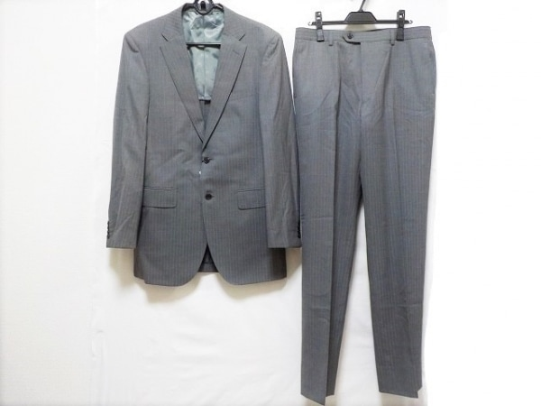 ジュンコシマダ シングルスーツ サイズA9 メンズ新品同様  グレー×ライトグレー