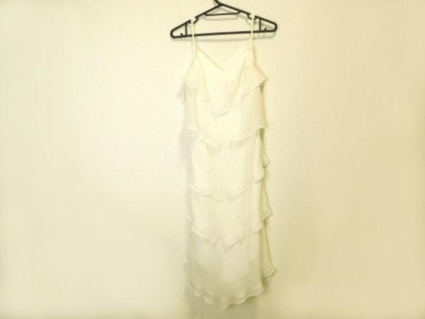 ラデファンス ドレス サイズ9 M レディース美品  白 フリル/ラインストーン