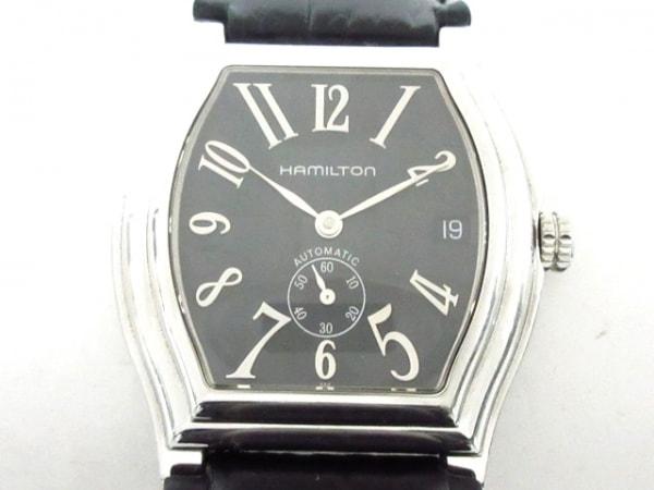 HAMILTON(ハミルトン) 腕時計 ダッドソン H274150 メンズ 革ベルト/型押し加工 黒